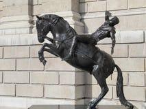 Staty av den dråsa Saulen (stad av London) Arkivfoton