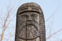 Staty av den forntida Slavicguden royaltyfri foto