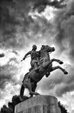 Staty av den grekiska hjälten Karaiskakis Royaltyfri Fotografi