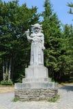 Staty av den hedniska guden Radegast arkivbilder