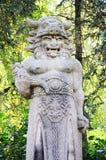 Staty av den hedniska guden Radegast Arkivfoton