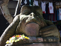Staty av den hinduiska apaguden, Ubud, centrala Bali, Indonesien Royaltyfri Foto