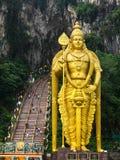 Staty av den hinduiska guden Murugan på Batu grottor, Kuala Lumpur, Malaysia Arkivbild