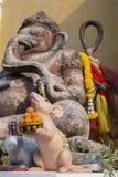 Staty av den hinduistgudGanesha offentligt templet i Thailand, Royaltyfria Bilder