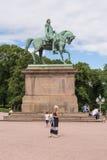 Staty av den norska konungen Karl Johan XIV i Oslo, Norge Arkivbilder
