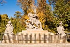 Staty av den polska konungen Jan III Sobieski Arkivfoto