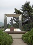 Staty av den ryska musikerlåtskrivaren Vladimir Vysotsyi Podgoric Royaltyfri Foto