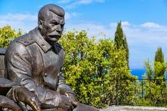 Staty av den sovjetiska ledaren Stalin Arkivbild