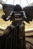 Staty av den stupade ängeln Lucifer Royaltyfria Bilder