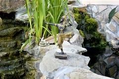 Staty av den thailändska Buddha med bågskytten Royaltyfri Bild