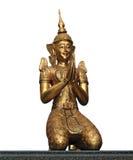 Staty av den thailändska demonen - ordningsvakt Arkivbilder