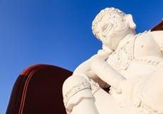 Staty av den thailändska jätten för Lanna stil i kungliga Flora Expo, Thaila Fotografering för Bildbyråer