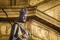 Staty av den tjeckiska konungen Charles IV i Prague Tjeckien Royaltyfri Foto
