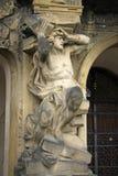Staty av den Troja slotten i Prague, Tjeckien Fotografering för Bildbyråer