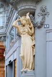 Staty av den unga damen, i Wien Royaltyfria Bilder