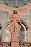 Gotisk domkyrka av Freiburg, sydlig Tyskland Arkivfoton