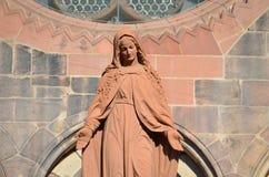 Gotisk domkyrka av Freiburg, sydlig Tyskland Fotografering för Bildbyråer