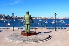 Staty av Dom Carlos i Cascais, Portugal Royaltyfri Bild