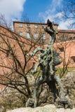 Staty av draken Royaltyfri Fotografi