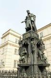 Staty av droppen för konung Charles Arkivfoto