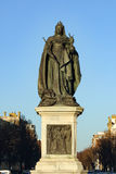 Staty av drottningen Victoria på en solig dag i Brighton Sussex Arkivfoto