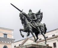 Staty av El Cid i Burgos, Spanien Fotografering för Bildbyråer