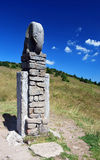 Staty av elefanten nära Morava flodkälla Royaltyfri Bild