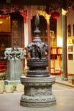 Staty av elefanter i Jade Buddha Temple Royaltyfri Bild