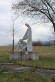 Staty av en ängel Arkivfoto