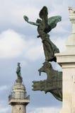 Staty av en bevingad kvinna i monumentet till Victor Emmanuel II Arkivbild