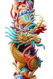 Staty av en drake. Fotografering för Bildbyråer