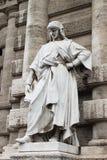 Staty av en filosof i Rome Royaltyfri Foto