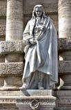 Staty av en filosof Vico Arkivbild