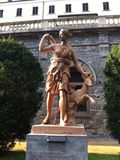 Staty av en jägare Royaltyfri Fotografi