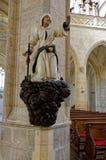 Staty av en jew i kyrkan royaltyfri fotografi