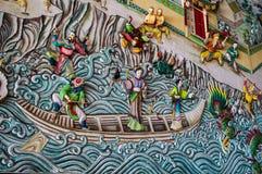 Staty av en kinesisk vägg. Royaltyfri Fotografi