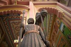 Staty av en krigare Royaltyfri Fotografi