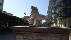 Staty av en lion Arkivfoto