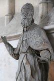 Staty av en man av torkduken - VendÃ'me - Frankrike Arkivfoto