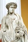 Staty av en musa Melpomene Royaltyfria Foton
