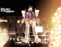 Staty av en robot på Tokyo i Japan Royaltyfri Bild