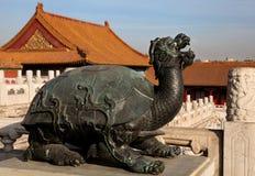 Staty av en sköldpadda Royaltyfri Foto