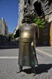 Staty av en soldat Hungarian, Budapest Royaltyfria Foton