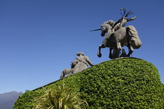 Staty av enhörningen Arkivfoto