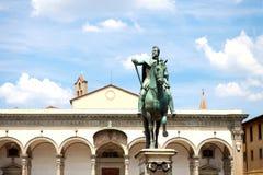 Staty av Ferdinando I de Medici i Florence Arkivbild