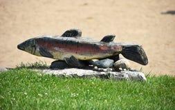 Staty av fisken Fotografering för Bildbyråer