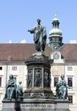 Staty av Francis II i Wien, Österrike Fotografering för Bildbyråer