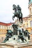 Staty av Frederick William I av Preussen i Berlin Royaltyfri Fotografi