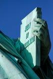 Staty av frihets minnestavla Arkivbilder