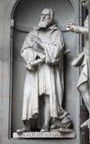 Staty av Galileo Galilei arkivfoton